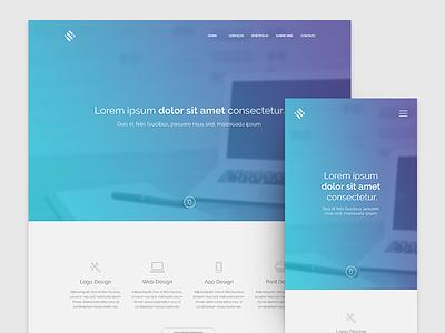 Website freelancer template design ux ui web portfolio