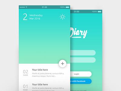 App Design diary ux ui design app