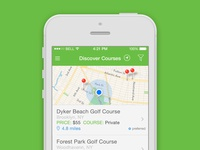 iPhone App - Discover Courses
