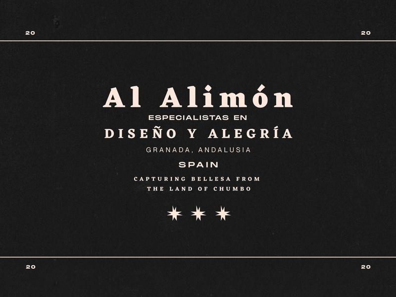 AL ALIMÓN vintage badge vintage type design design composition typeface typography
