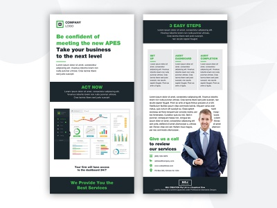 Agency/Corporate DL Flyer Design prospectus presentation catalog booklet leaflet a4 print modern corporate agency marketing advertising company business editorial template dl layout poster flyer