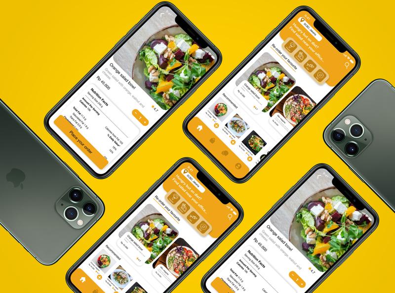 SaladTree interface mockups app uiux ui uidesign