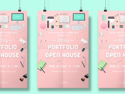 Invitation Poster illustration graphic clean poster invitation drawing flat information portfolio bright
