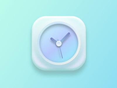 A pretty way to tell time :) time clock ios7 icon sketch illustration graphic clean bright