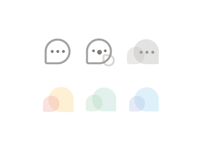 Let's Chatting color ui interface device app icon cute chat conversation