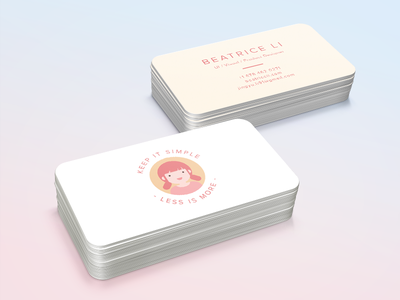 Business Card information print flat branding clean graphic illustration card id business logo