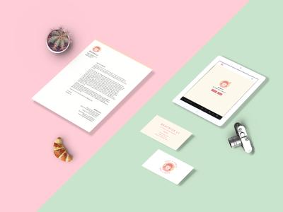 Self Branding flat branding clean graphic illustration card id business logo