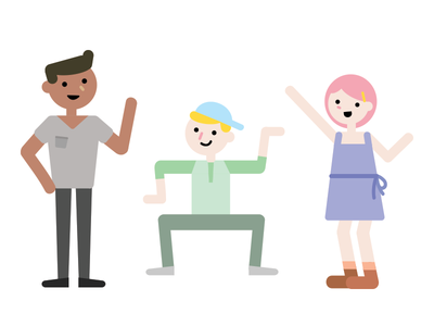 Party time? graphic illustration flat characters vector