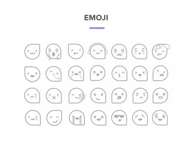 Emoji emoji vector illustration graphic flat characters