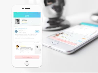 GetIntro app ios clean flat ui