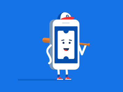 Ricky Tickets  seat geek app baseball mascot phone