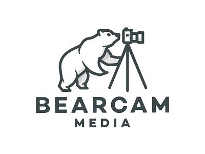 Bearcam Media Logo de oso camera logo bear