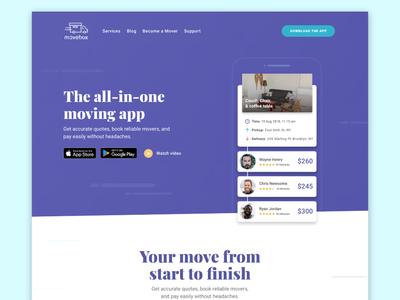 Movebox.io Homepage redesign