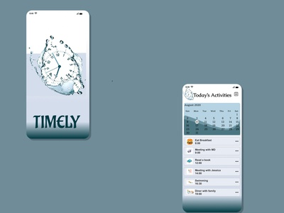 Timely_A To do list UI calendar schedule time management time app ui design