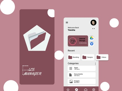 File manager interface app ui design file manager