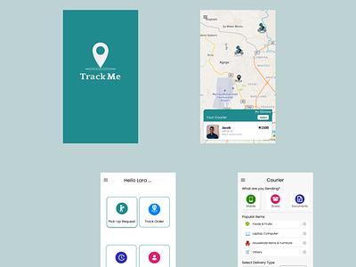 TrackMe delivery logistics design ui app