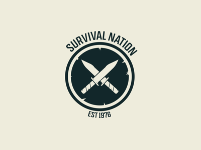 Survival nation badge vector badge brand identity logo