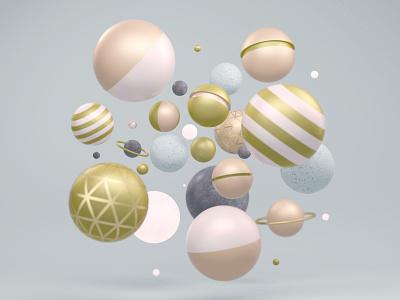 Random Render cinema4d design illustration color 3d c4d