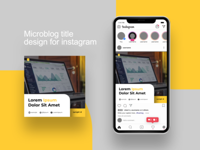 Microblog title design