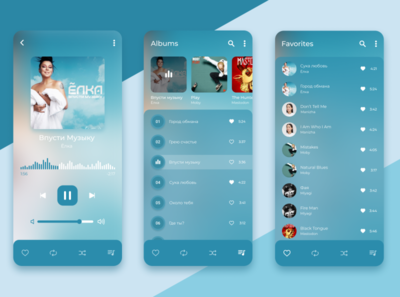 Music Player cold azure tracks sound wave blue player app music player