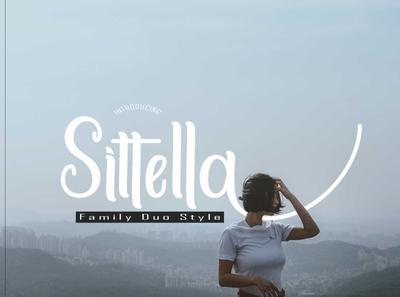 Sittella design typography typeface font style font script fonts font duo font design calligraphy