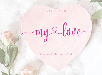 My love logo design typography typeface font style font script fonts font duo calligraphy