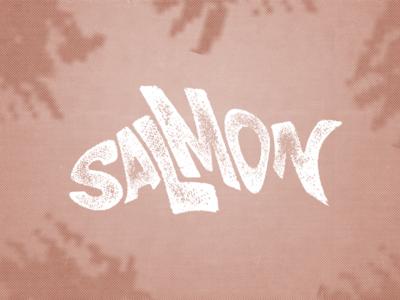 Salmon typography design illustration