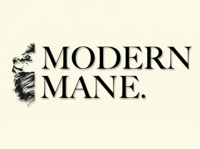 Modern Mane logo branding typography design illustration