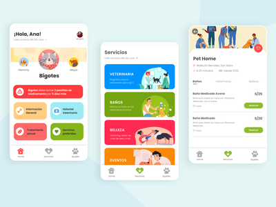 Pet Care App Design figmadesign figma app design mobile app design mobile app flat app icon ux ui design