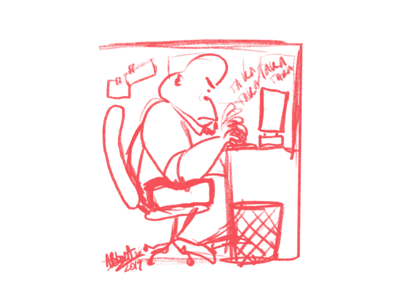 Herman at Work procreate gorilla character art drawing illustration