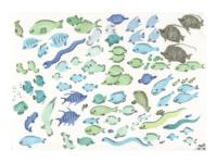 Deep Waters pen marker sea sealife fish animals art illustration