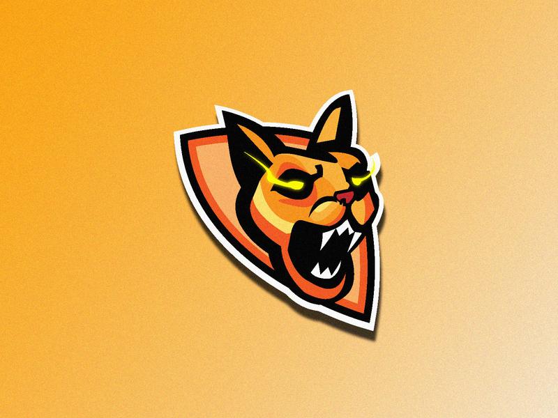 Yellowcat catlogo orange logo wildcat cat yellow orange strong strength power logodesign mascot mascotlogo logodesigns mascot design gaminglogo adobeillustrator esport