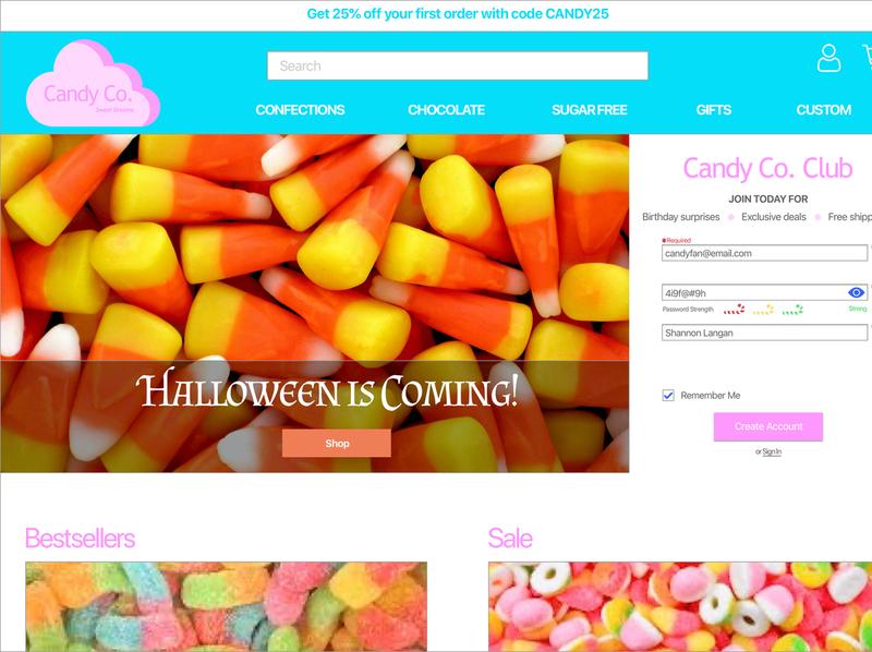 Daily UI 1: Sign Up baymardinstitute ecommerce dailyuichallenge dailyui 001