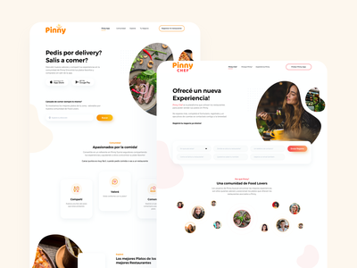 PinnyApp - App for food lovers card typography clean interface web web design ux app ui design