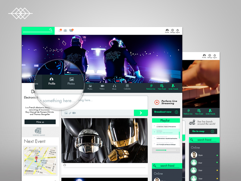 Day 006 | Band Profile UI Social Network