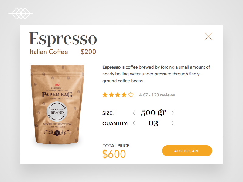 Day 007 | Espresso Coffee Product Card UI