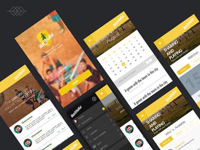 Day 010 | Football App - Material Design interface menu login fotball futbol ui design app design ux ui