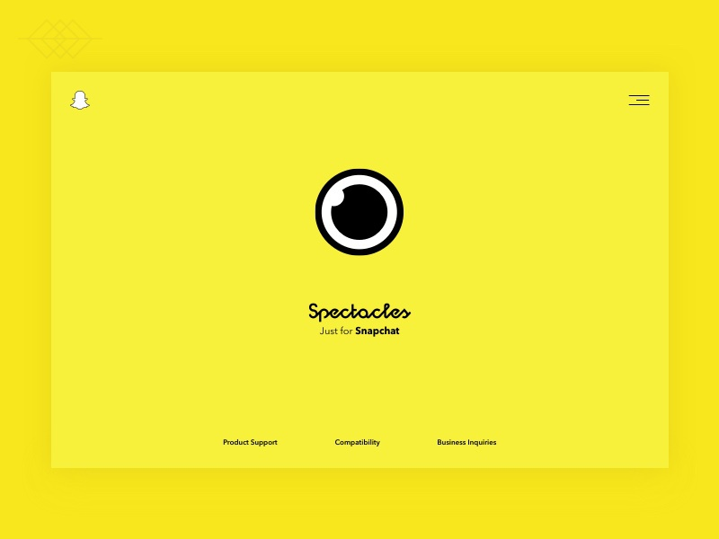 Spectacles - Just for Snapchat