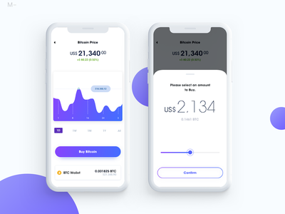 Buying Bitcoin gradient setting ux ui product interface design app