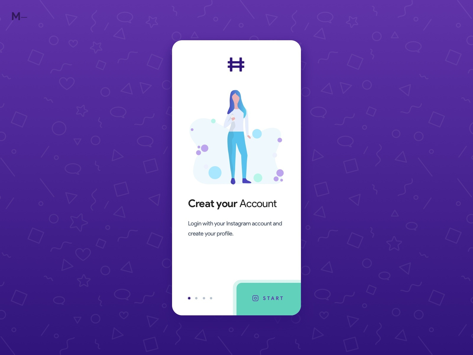 Influencers Startup app - Onboarding