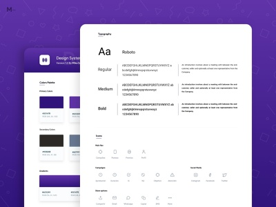Design System icon graphic design card typography clean branding flat gradient product interface web design design