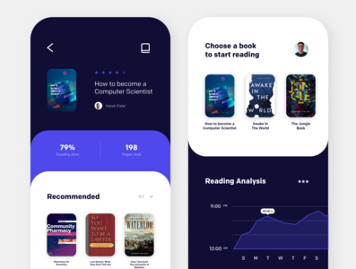 Book Reading App website web ux ui minimal illustrator illustration design branding app