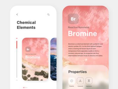 Chemistry App website web ux ui minimal illustrator illustration design branding app
