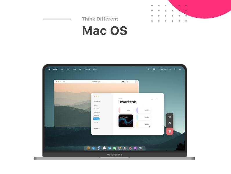 MacOS Concept macbook apple design apple macos art web ux ui minimal illustrator design branding app