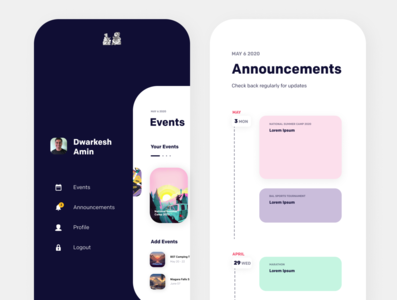 Event Management App 2 website web ux ui minimal illustrator illustration design branding app