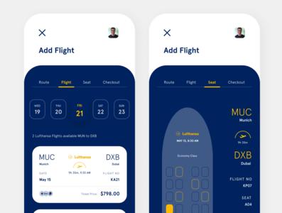 Lufthansa App 2 website web ux ui minimal illustrator illustration design branding app