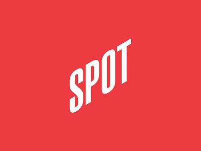SPOT - логотип компании typogaphy red brand brand identity logotype brand design branding logo