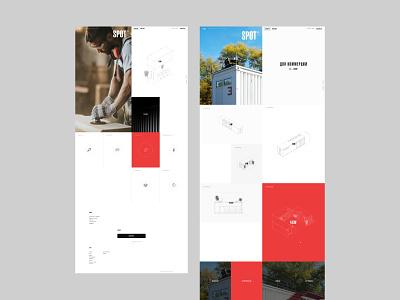 SPOT - дизайн внутренних страниц mobile design adaptive design adaptive red ux ui ecommerce catalog digital website webdesign