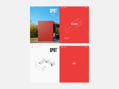 SPOT - элементы дизайн-макетов typography ux ui corporate architecture red webdesign website web