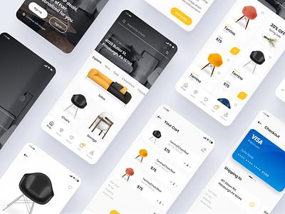 Furr – Mobile Ecommerce UI Kit design app vector ui design